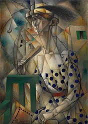 woman cubist face