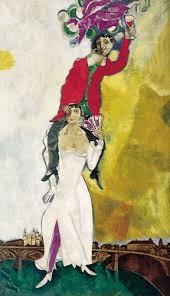 marc chagall:wine glass